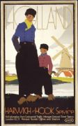 Vintage Dutch Travel Poster - Holland Harwich-Hook by LNER